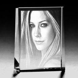 Kişiye Özel Kristal Fotoğraf 80x60x25 Dikey - Thumbnail