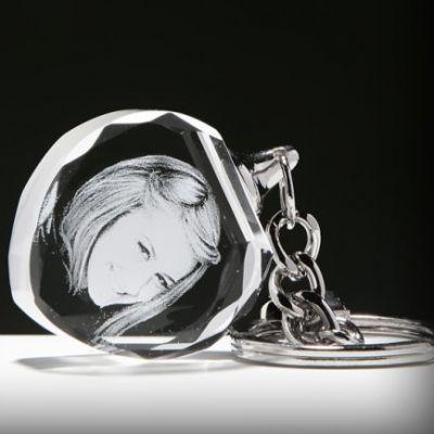 Kristal Kalp Anahtarlık (ışıksız)