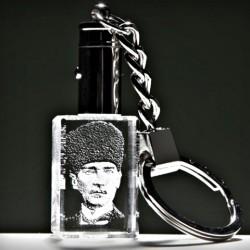 - Kristal Sivil Kalpaklı Atatürk Anahtarlık