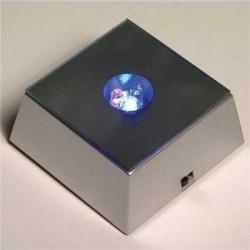 Kişiye Özel Kristal Küçük Kalp ve Ledli ışıklı kaide - Thumbnail