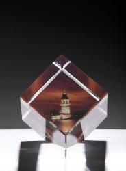 - Kişiye Özel Kristal 60x60x60 Kesik Renkli