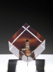 Kişiye Özel Kristal 60x60x60 Kesik Renkli - Thumbnail