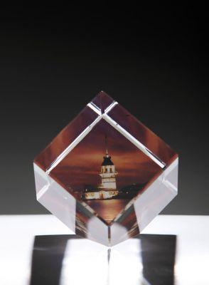 Kişiye Özel Kristal 60x60x60 Kesik Renkli